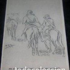 Postales: TARJETA POSTAL 1950 APUNTE PARA COMPOSICION GAUCHO RESERO. Lote 294273623