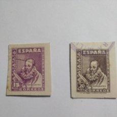 Postales: 1938 - 1940 / CERVANTES / 15 Y 20 CÉNTIMOS / RAROS. DE TARJETA POSTAL.. Lote 295861473