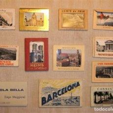 Postales: LOTE DE 12 ALBUMES DE POSTALES DISTINTAS CAPITALES EUROPAS VINTAGE. Lote 296063308