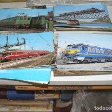 Postales: GRAN COLECCION DE POSTALES DE TRENES CON 486 EJEMPLARES. Lote 296622048
