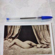 Postales: FOTO DESNUDO AÑOS VEINTE E. ANTALBE REPRODUCCIÓN. Lote 296693643