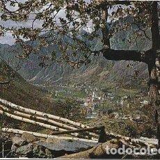 Postales: ANDORRA & CIRCULADO, VALLS DE ANDORRA, VISTA GENERAL DE ANDORRA Y LES ESCALDES, LISBOA 1972 (2058). Lote 297116493