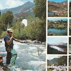 Postales: ANDORRA & CIRCULADO, LOS RIOS Y LAGOS DE LOS VALLES DE´ANDORRA, MULTI, LISBOA 1971 (3036). Lote 297117918