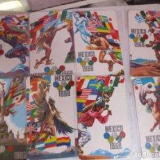 Postales: VINTAGE LOTE 8 DE POSTALES DE LAS OLIMPIADAS DE MEXICO 68. Lote 297120893