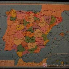 Puzzles: ANTIGUOS PUZZLES DE GEOGRAFÍA. Lote 7651255