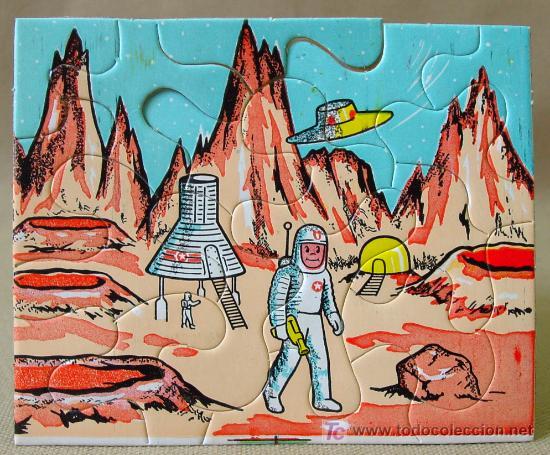 VINTAGE MINI PUZZLE PUZLE SPACE ESPACIO APOLO 60S (Juguetes - Juegos - Puzles)