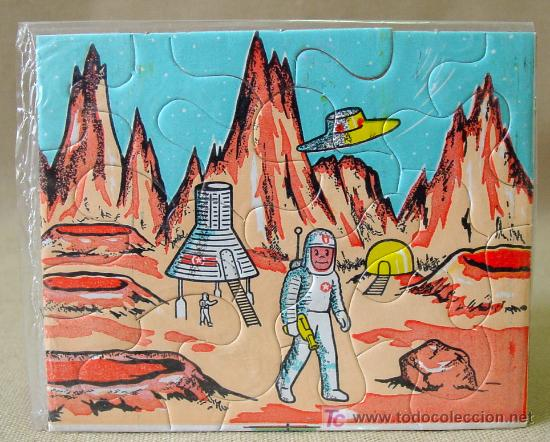 Puzzles: VINTAGE MINI PUZZLE PUZLE SPACE ESPACIO APOLO 60s - Foto 3 - 11781855