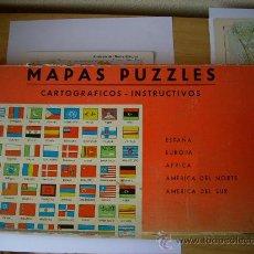 Puzzles: MAPAS PUZZLES . CARTOGRAFICOS INSTRUCTIVOS . 6 PUZZLES . AÑO 50 - 60 . . Lote 13398847