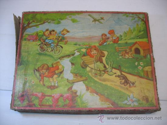 PUZZLE DE CUBOS CON IMAGENES INFANTILES (Juguetes - Juegos - Puzles)