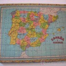 Puzzles: PUZZLE EN CUBOS MAPA DE ESPAÑA Y PORTUGAL. Lote 22133540