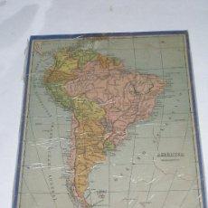 Puzzles: ANTIGUO PUZZLE EN MADERA . MAPA DE AMÉRICA MERIDIONAL . MEDIDAS 23 X 30 CMS. Lote 13808775
