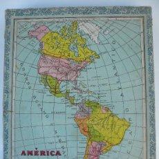 Puzzles: ANTIGUO PUZZLE ROMPECABEZAS- CUBOS DE CARTON- MAPAS. Lote 27578107