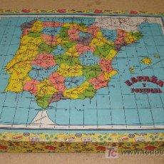Puzzles: INTERESANTE Y DIFICIL PUZZLE DE CUBOS CARTON ESPAÑA Y PORTUGAL VER FOTOS. Lote 26441951