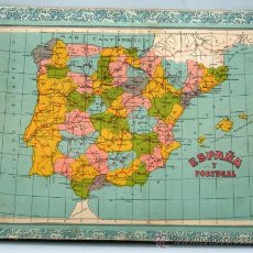 Puzzles: ROMPECABEZAS 6 MAPA MUNDO ESPAÑA AMERICA ASIA EUROPA OCEANIA Y AFRICA CONTINENTES AÑOS 40. Lote 18295746
