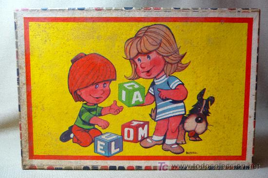 ROMPECABEZAS, CUBOS DE CARTON, AÑOS 60, COMPLETO, (Juguetes - Juegos - Puzles)