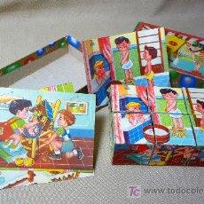 Puzzles: ROMPECABEZAS, AÑOS 60, CUBOS DE CARTON, 12X8CM, COMPLETO, . Lote 23173959