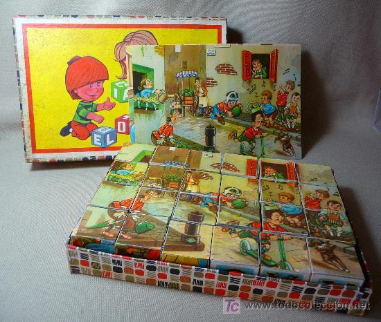 Puzzles: ROMPECABEZAS, CUBOS DE CARTON, AÑOS 60, COMPLETO, - Foto 2 - 23159175