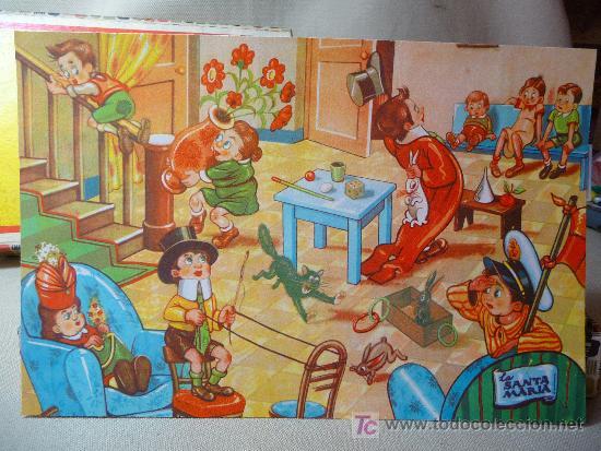 Puzzles: ROMPECABEZAS, CUBOS DE CARTON, AÑOS 60, COMPLETO, - Foto 4 - 23159175