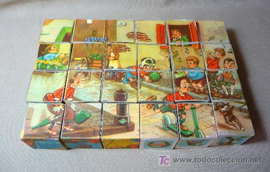 Puzzles: ROMPECABEZAS, CUBOS DE CARTON, AÑOS 60, COMPLETO, - Foto 5 - 23159175