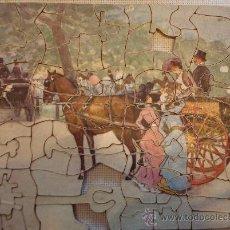 Puzzles: ANTIGUO PUZLE DE PIEZAS DE MADERA CON PINTURA Y CAJA ORIGINALES - TUCK'S ZAG-ZAW PICTURE PUZZLE. Lote 26258956