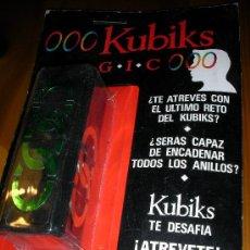 Puzzles: ANTIGUO BLISTER DE RUBIK FABRICADO EN ESPAÑA KUBIKS MAGIC OOO 12 X INFINITO NUEVO SIN USAR. Lote 33811450