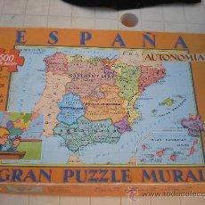Puzzles: ANTIGUO PUZZLE DE 500 PIEZAS MAPA DE ESPAÑA. Lote 28717934