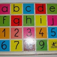 Puzzles: BONITO PUZZLE PUZLE DE CUBOS DE PLASTICO ABECEDARIO Y NUMEROS. Lote 28119250