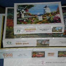 Puzzles: LOTE DE 3 PUZZLES , 1000 PIEZAS ( DEPORTIVO BMW ) , 500 PIEZAS ( JARDÍN ) , 300 PIEZAS ( FARO ) . . Lote 28512927