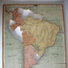 Puzzles: PUZLE SOBRE MADERA.MAPA DE AMERICA DEL SUR.C.1920.33X20.ESCUELA.FALTO. Lote 29481431