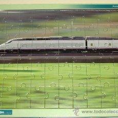 Puzzles: PUZZLE DE TRENES. AVE 100. TREN RENFE. 29,5 X 21 CM. 50 PIEZAS. PUZLE. . Lote 30675359