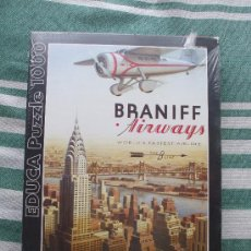 Puzzles: PUZZLE EDUCA 1000 - BRANIF AIRWAYS - PRECINTADO - AVIACION NEW YORK - JOR. Lote 31211885