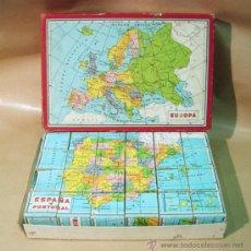 Puzzli: PUZLE. MAPAS DE ESPAÑA Y PORTUGAL MÁS LOS 5 CONTINENTES. . Lote 31269840