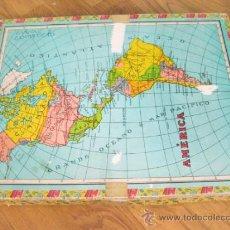 Puzzles: PUZLE DE LOS AÑOS 50 DE CUBOS CON MAPAS - PUZZLE DE MAPA. Lote 35388839
