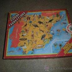 Puzzles: PUZLE ESPAÑA FAUNA Y FLORA PUZLE GEOGRAFICO AÑO 79-80 COMPLETO. Lote 35913827