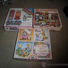Puzzles: 3 PUZLES INFANTILES COMPLETOS VER FOTOS. Lote 35913919