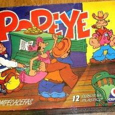 Puzzles: ROMPECABEZAS POPEYE 12 CUBOS DE PLÁSTICO CEFA CON CAJA. Lote 36425422