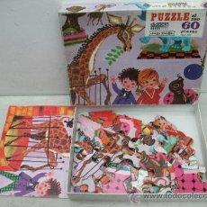 Puzzles: DIDACIA - ANTIGUO PUZZLE INFANTIL DEL ZOO DE 60 PIEZAS. Lote 36471439