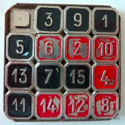 Antiguo Diablotin breveté S G D G  - 15 puzzle / boss puzzle / leu de taquin