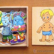 Puzzles: JUEGO INFANTIL - VESTIDOS - LAZOS - D MADERA - NIÑO . Lote 37735869