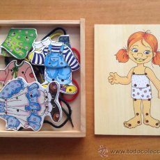 Puzzles: JUEGO INFANTIL - VESTIDOS - LAZOS - D MADERA - NIÑA. Lote 37735871