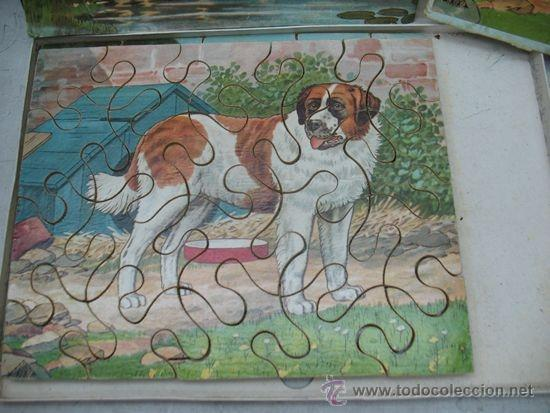 Puzzles: Carboplan - Antiguo puzzle de vaca y perro con sus láminas - Foto 2 - 37794150