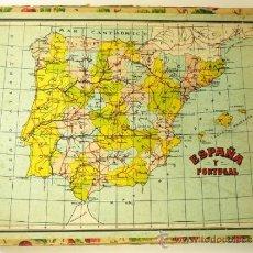 Puzzles: PUZZLE GEOGRÁFICO DE CUBOS DE CARTÓN - ESPAÑA, EUROPA, ASIA, AMERICA, OCEANIA, AFRICA- AÑOS 20'. Lote 38989347