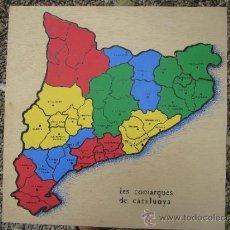 Puzzles: PUZLE DE MAPA DE LES COMARQUES DE CATALUNYA , MADERA DE TABLES - AÑOS 1990-95. Lote 177431593
