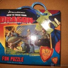 Puzzles: PUZZLE INFANTIL - COMO ENTRENAR A TU DRAGON - 30 PIEZAS - 27X18 CM - + 3 AÑOS - DREAMWORKS. Lote 39450031