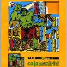Puzzles: THE INCREDIBLE HULK - PUZLE - ROMPECABEZAS DE PLASTICO, CAJA DE AHORROS Y MONTE DE PIEDAD DE MADRID. Lote 39471391