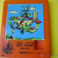 Puzzles: PUZLE 9X7 CM MICKEY ANDREFER USADO, CON FICHAS CON DESGASTE EN BORDES. Lote 39614860