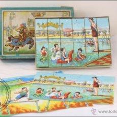 Puzzles: ANTIGUO JUEGO INFANTIL ROMPECABEZAS 24 CUBOS - CARTON Y LITOGRAFIA - PUZZLE - AÑOS 50. Lote 40084482