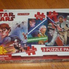 Puzzles: STAR WARS PACK DE 3 PUZLES DE CLON WARS. Lote 40292437