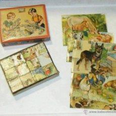 Puzzles: PUZZLE / ROMPECABEZAS DE CUBOS. IMAGENES DE ANIMALES. JUGUETE ALEMAN. GES. GESCH. VER FOTOS. AÑOS 50. Lote 40438584
