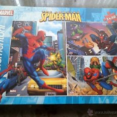 Puzzles: SPIDER - MAN. 3 PUZZLES COMPLETOS. MARVEL. CLEMENTONI.. Lote 40704756